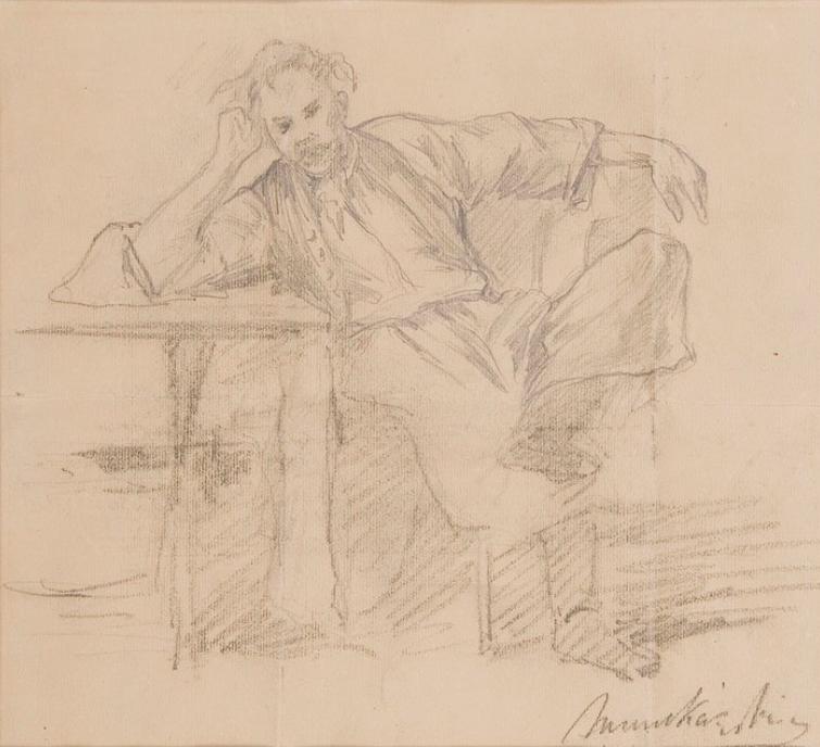 Михай Либ Мункачи. Мужчина за столом