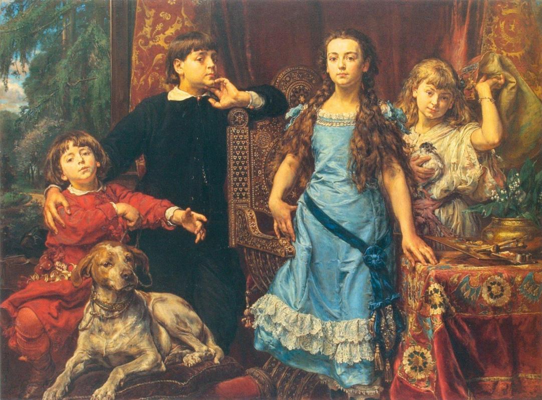 Portrait of four children of the artist