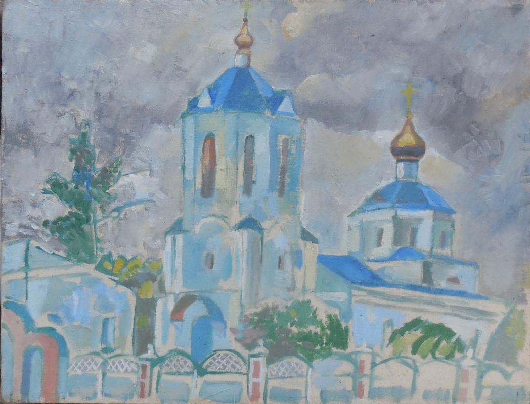STAS VOROUS. Landscape with a church