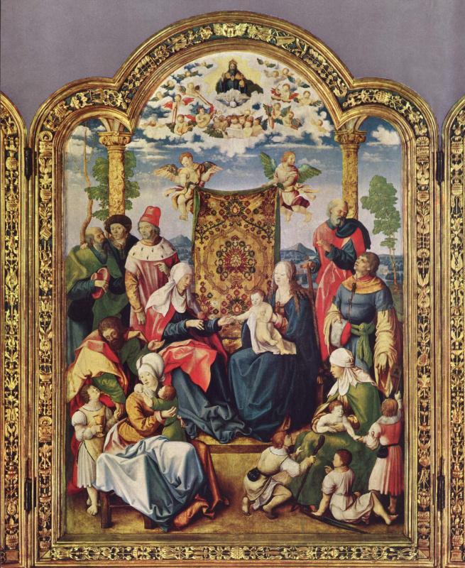 Артельсхофенский алтарь св. Семейства, центральная часть. св. Семейство