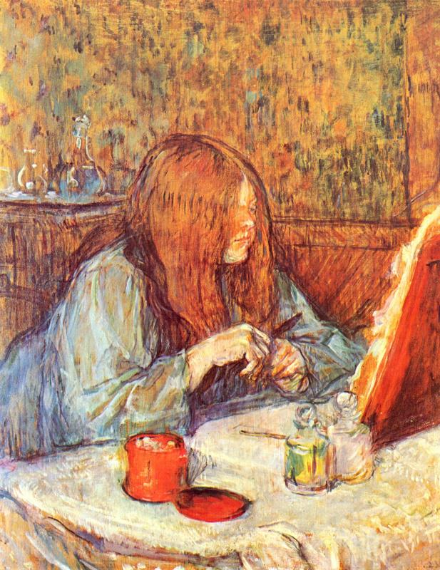 Henri de Toulouse-Lautrec. Madame Popul preening