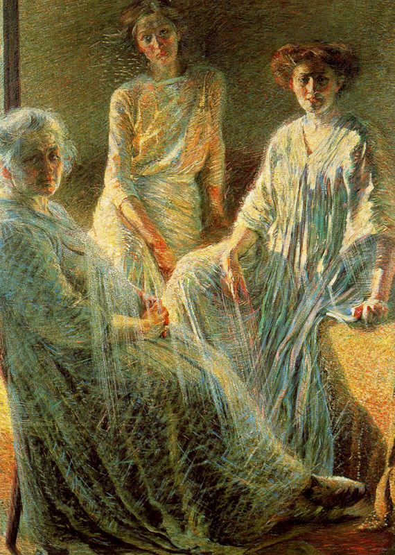Умберто Боччони. Пожилая женщина и две девушки