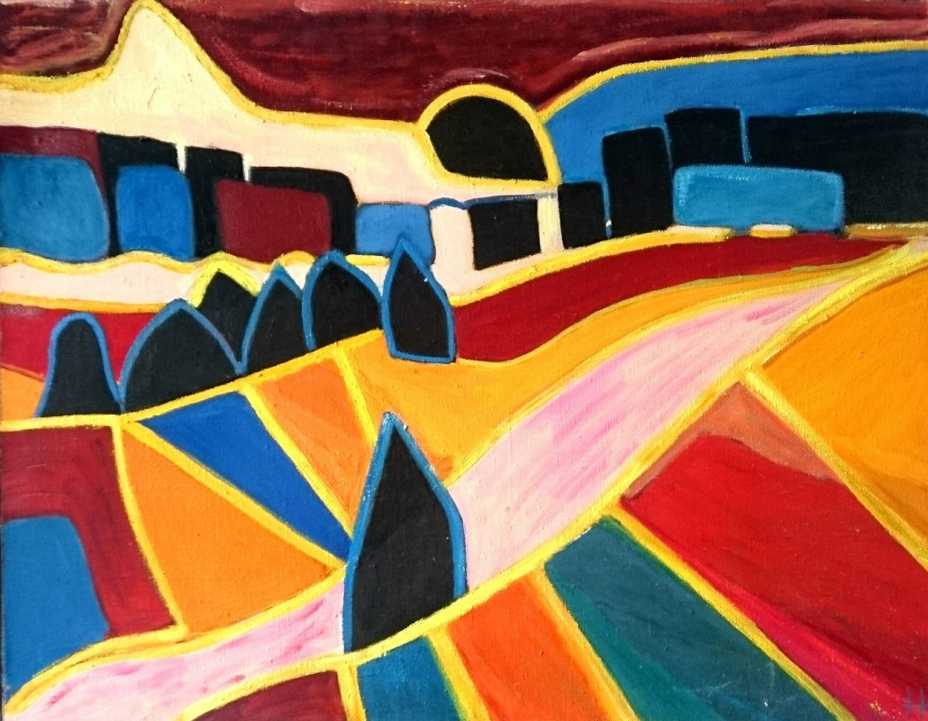 Natalia Alexandrovna Yudintseva. Fields, remembering Malevich