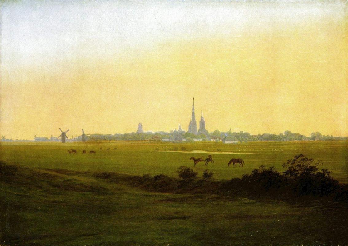 Caspar David Friedrich. Meadows near Greifswald
