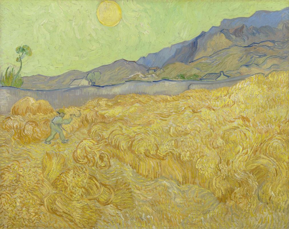 Винсент Ван Гог. Жнец в пшеничном поле и солнце