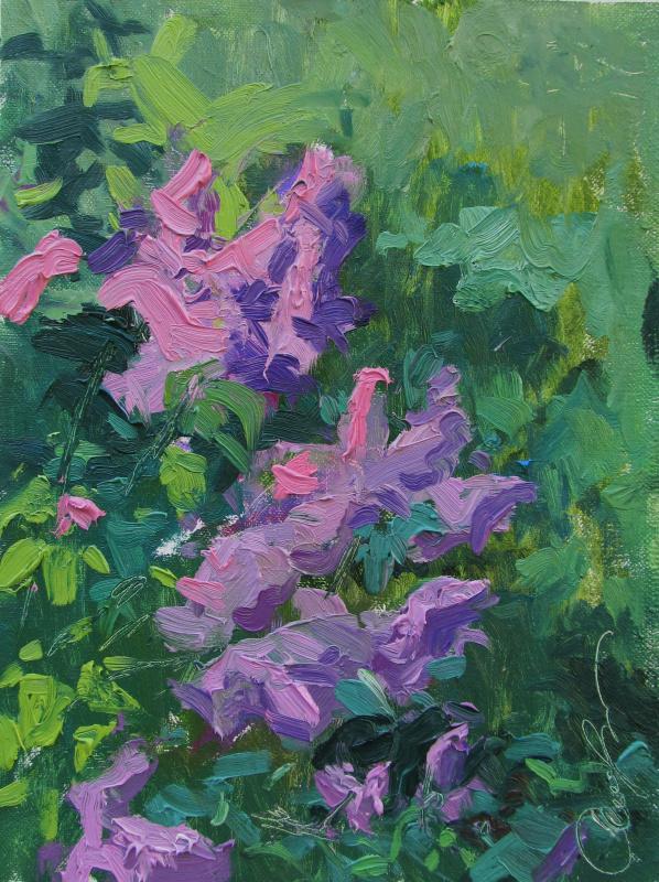 """Igor Semelin. """"A branch of lilac on a picnic"""""""