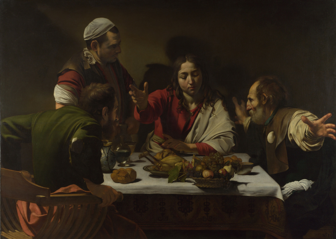 Michelangelo Merisi de Caravaggio. Supper at Emmaus