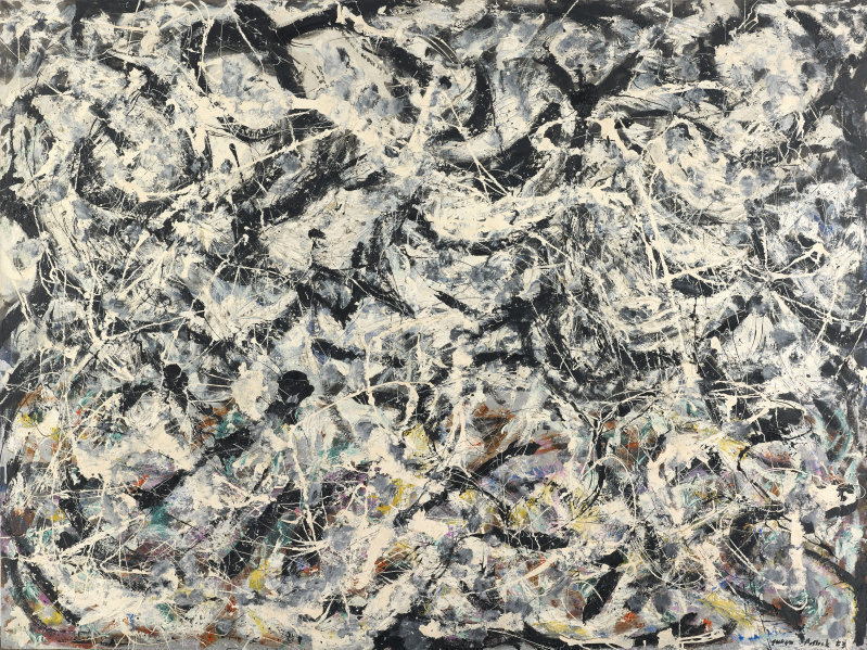 Jackson Pollock. The grey rainbow