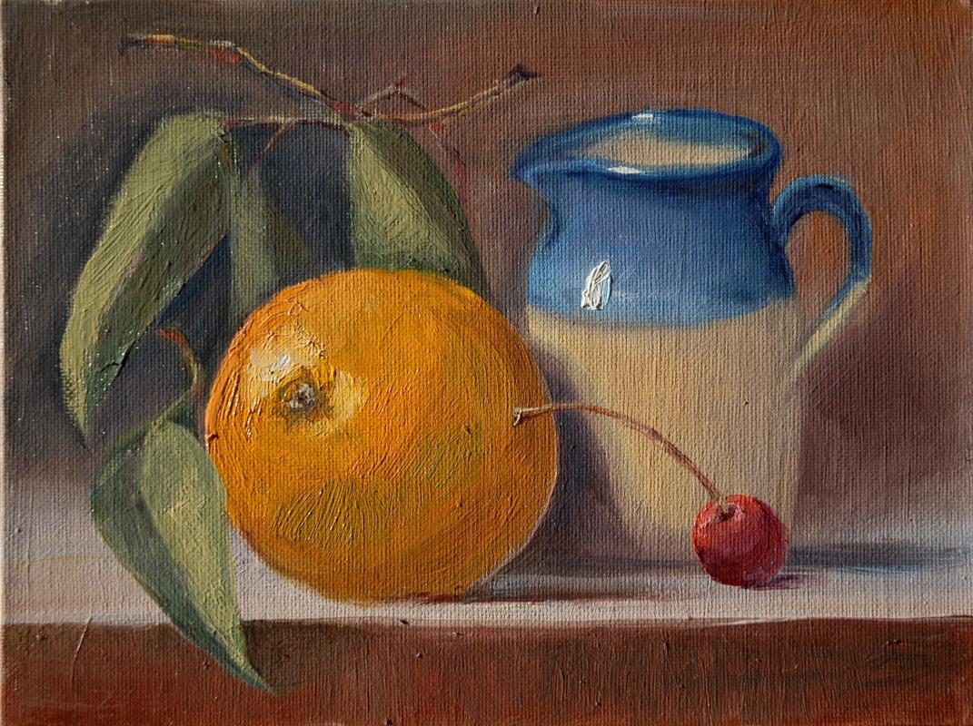 Sergey Valentinovich Karetnikov. Still life with cherries