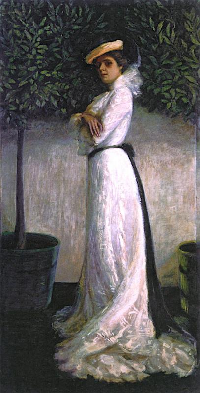 Флорина Штеттхаймер. Портрет моей сестры Кэрри В. Штеттхаймер в белом платье