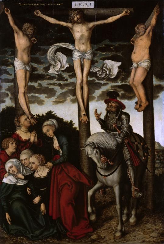 Лукас Кранах Младший. Распятие с обращением сотника. 1538-1540