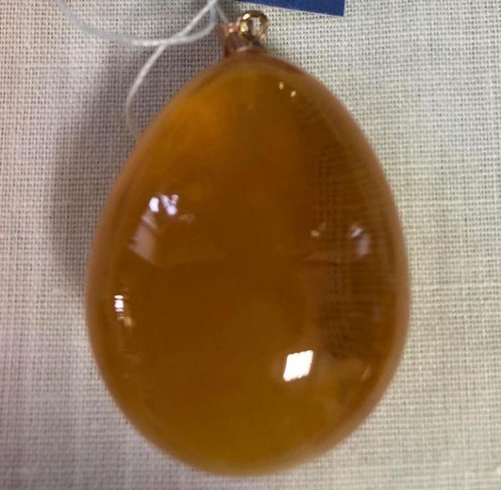 Royal amber cabochon