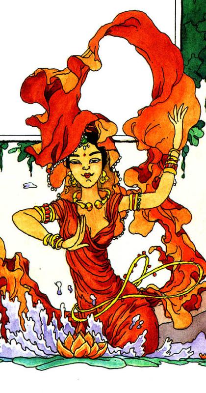 Клодин Сабатье. Восточный танец