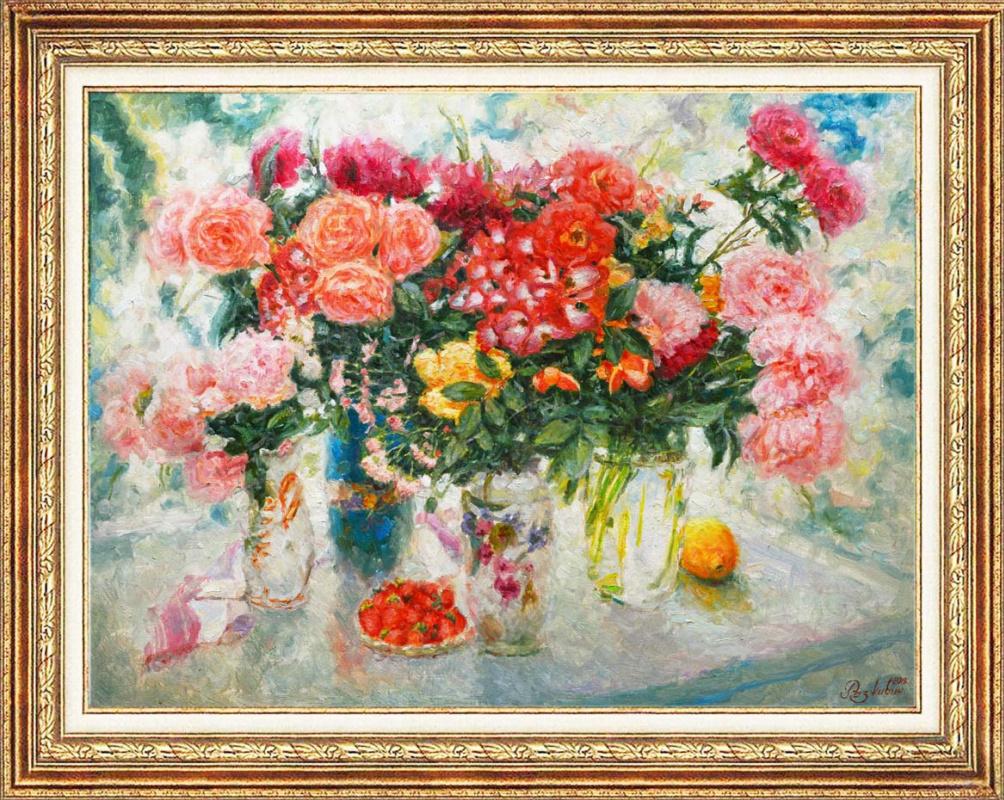 Igor Razzhivin. Still life in pink