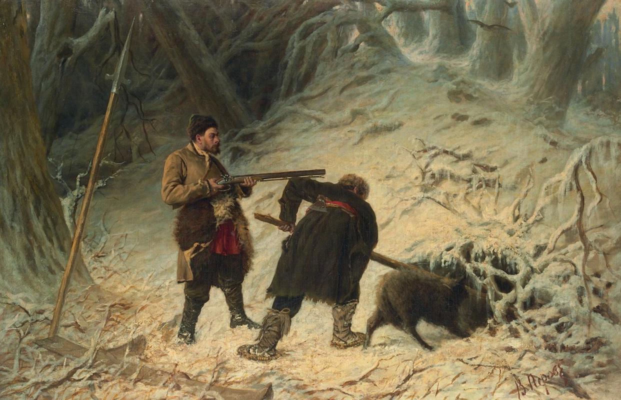 Василий Григорьевич Перов. Охота на кабана