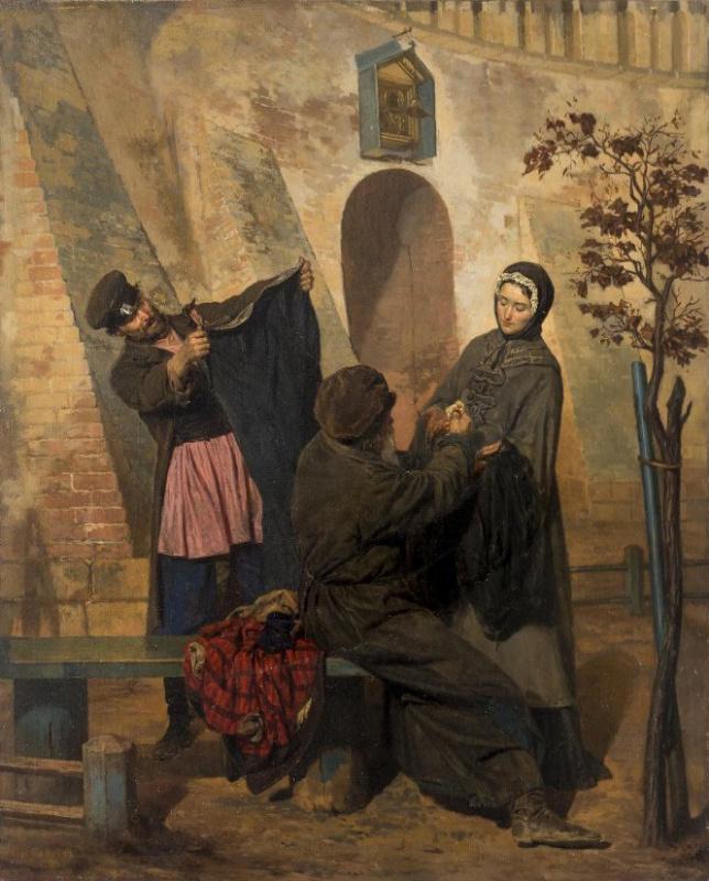 Наследство после чиновника (Вдова продает старое платье покойного мужа)