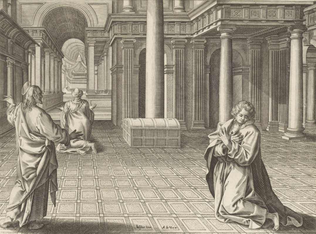 Adrian Collart. Parable of the Pharisee and the Publican