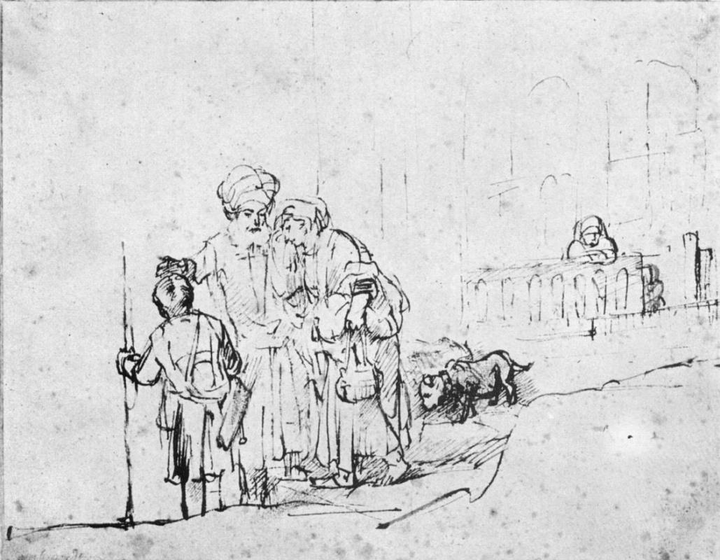 Рембрандт Ван Рейн. Изгнание Агари