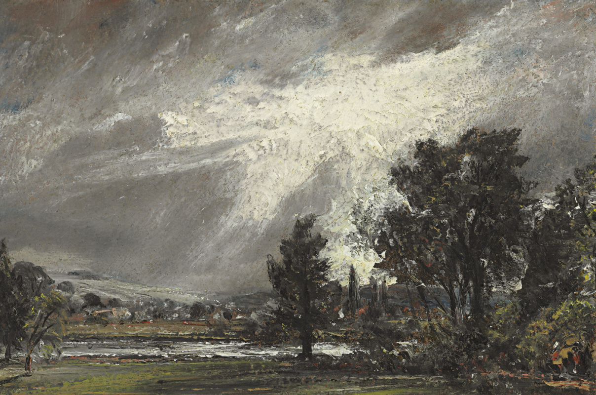 John Constable. Landscape in Salisbury