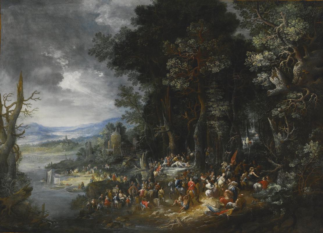 Herman Eduard Hartmann (Hartman). Landscape with the Transfiguration of St. Paul