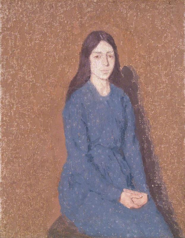 Gwen John. The girl in the blue dress