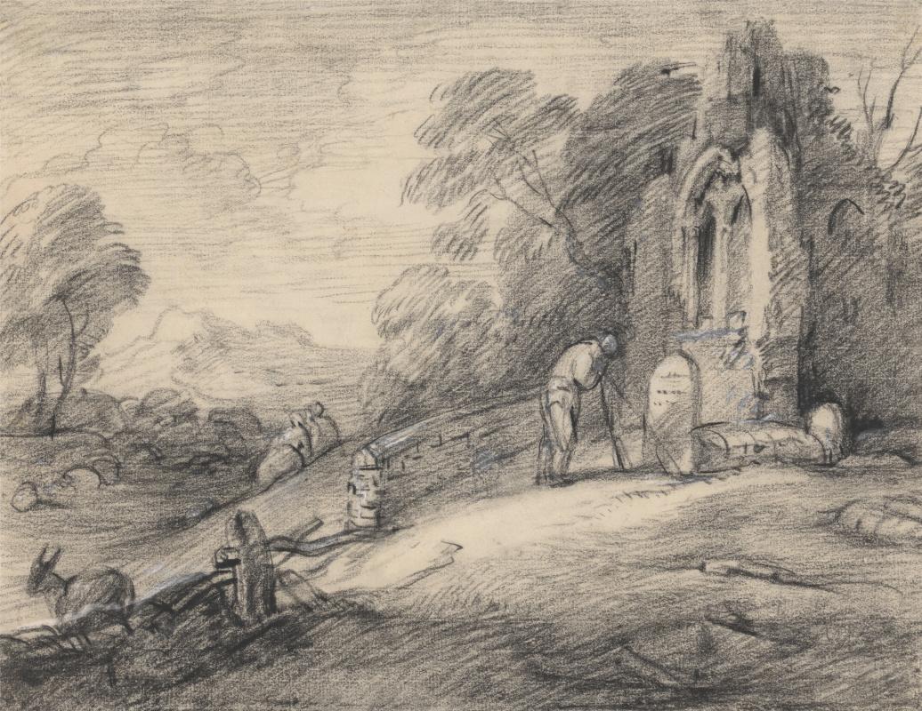 Thomas Gainsborough. The farmer at headstone