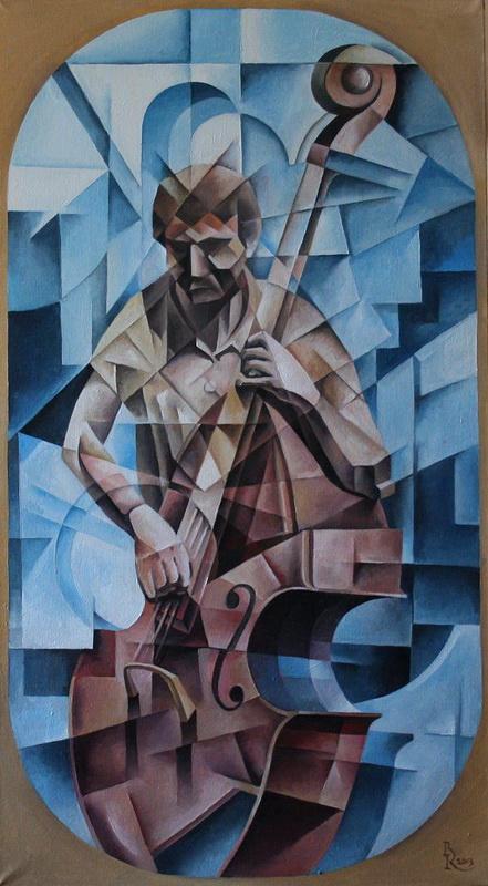 Vasily Vyacheslavovich Krotkov. Bassist. Kubofuturizm