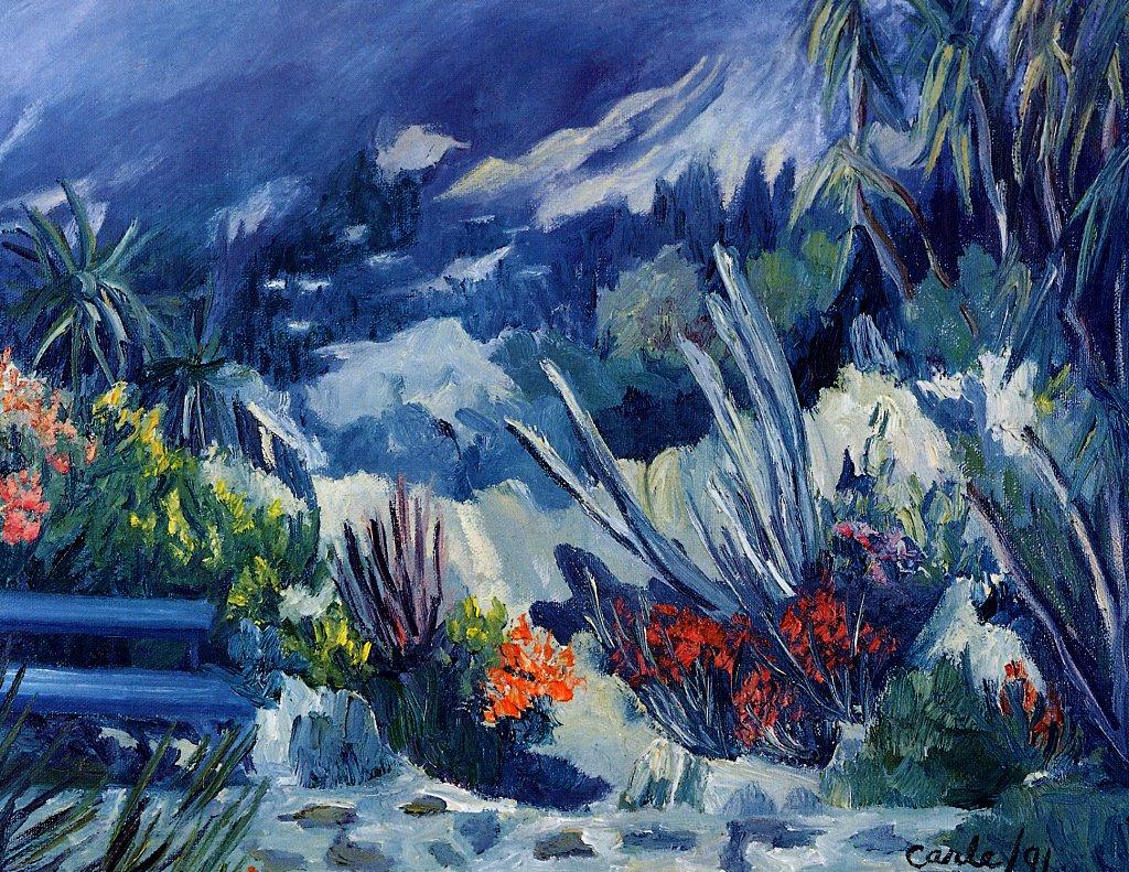 Hildegard Carl. Exotic garden