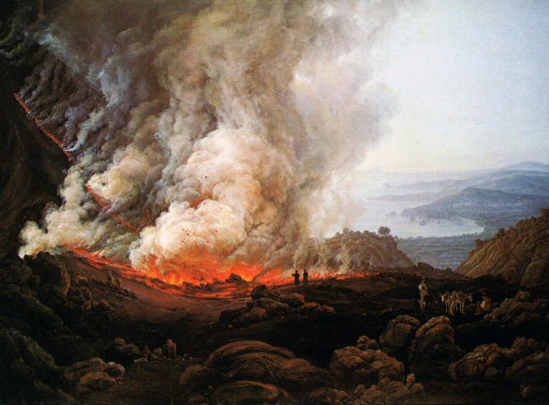Johan Christian Klausen Dahl. Извержение Везувия в декабре 1820 года