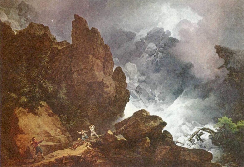 Филипп Якоб Лутербург-младший. Лавина в Альпах