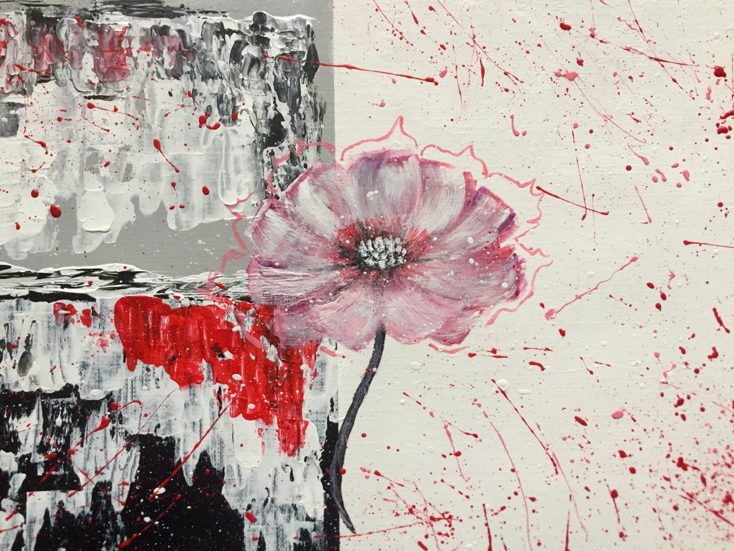 Elizabeth Isaeva. Flower with elements of abstract art
