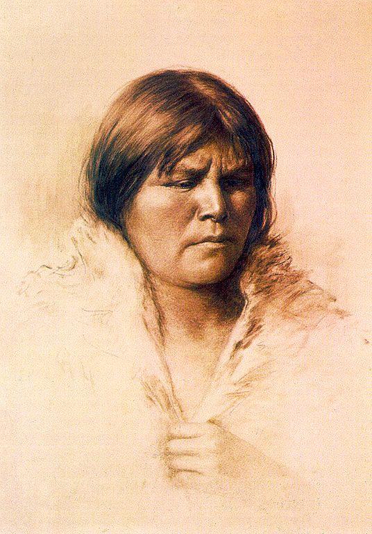 Грейс Карпентер Хадсон. Портрет женщины