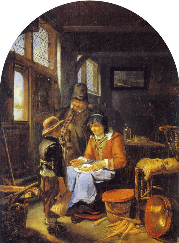 Franz van Miris the Elder. Sending the boy for beer