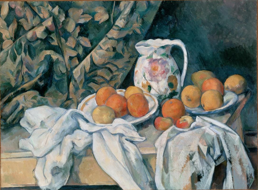 Paul Cezanne. Still life with curtain
