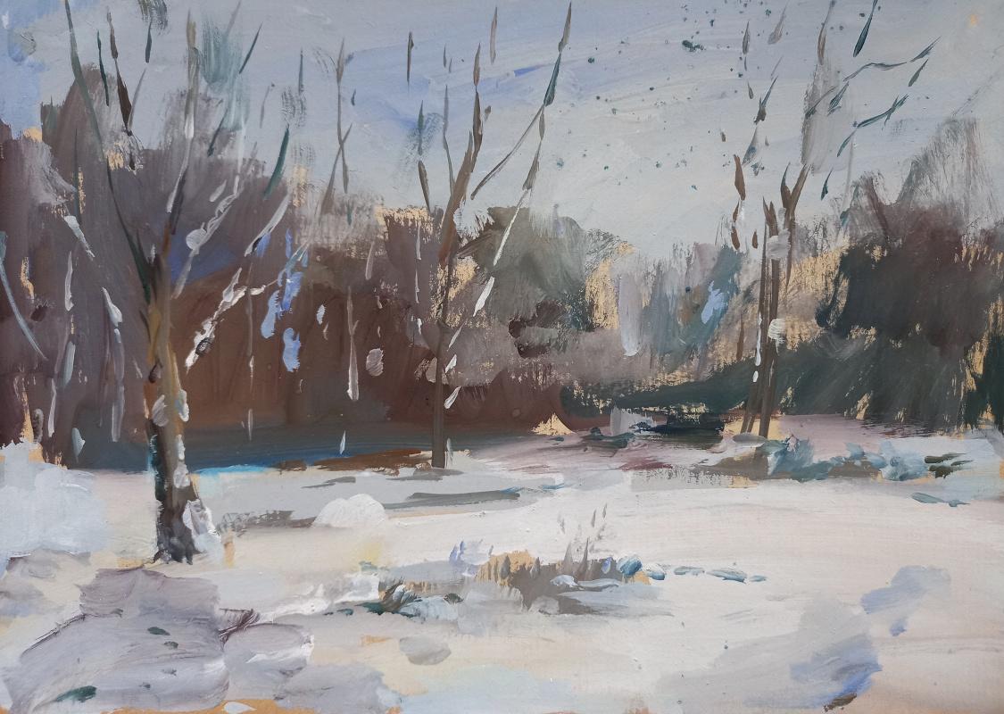 Nadezhda Yurievna Syabro. Winter forest