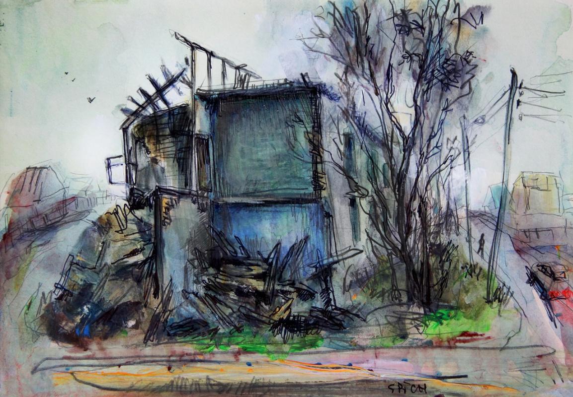Ilya Pavlovich Spichenkov. White hut