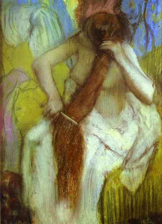 Edgar Degas. Woman doing hair