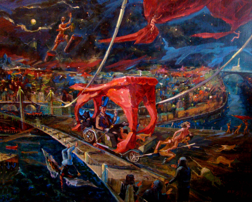 "Alexander Aleksandrovich Kurushin ovich. The last journey (illustration to the novel of M. Bulgakov ""Master and Margarita"")"