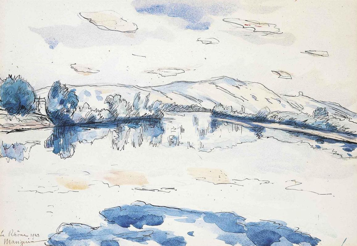 Henri Manguin. The Rhône River