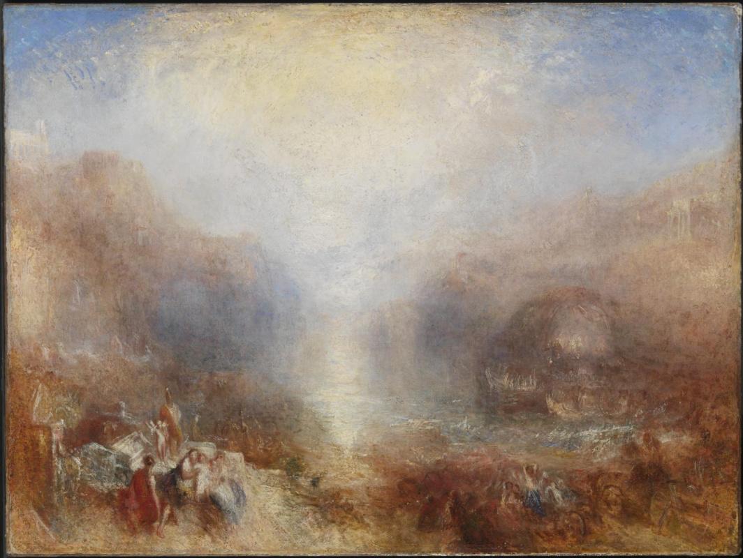 Joseph Mallord William Turner. Mercury, exhorts Aeneas