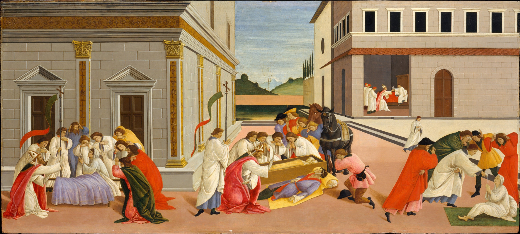 Сандро Боттичелли. Три чуда  святого Зиновия