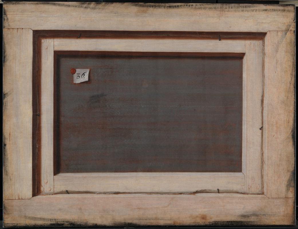 Корнелис Норбертус Гисбрехтс. Тромплёй. Обратная сторона картины в раме
