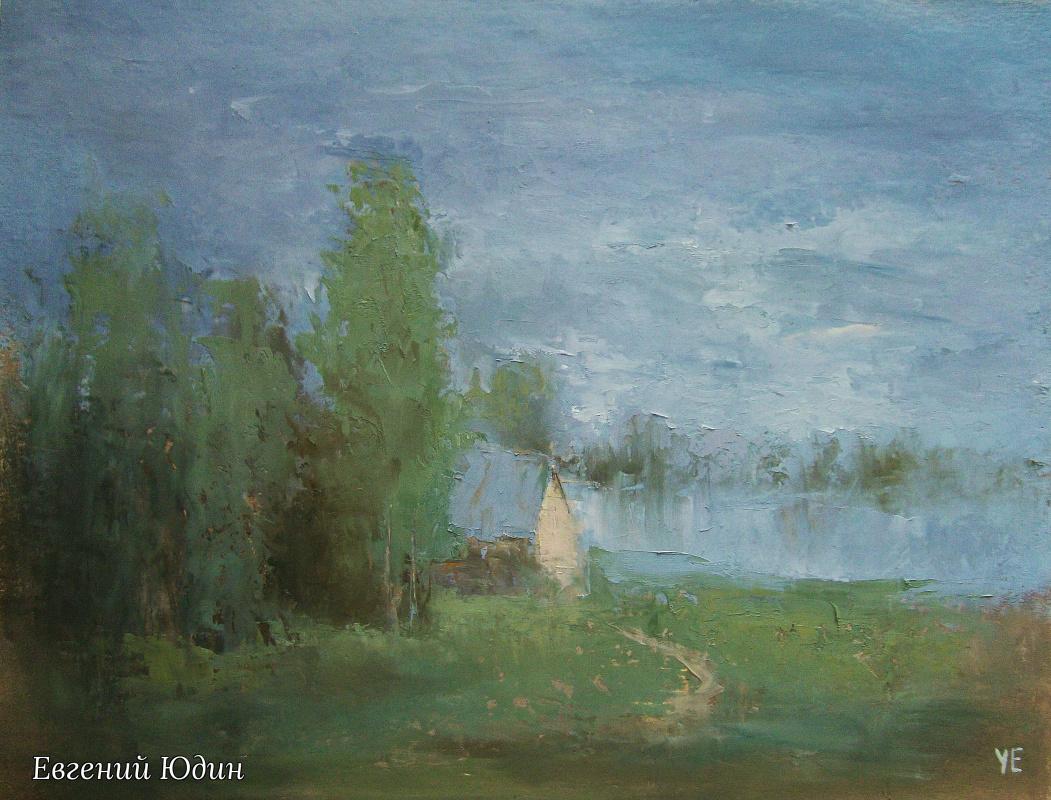 Evgeny Yudin. Lake house, sketch