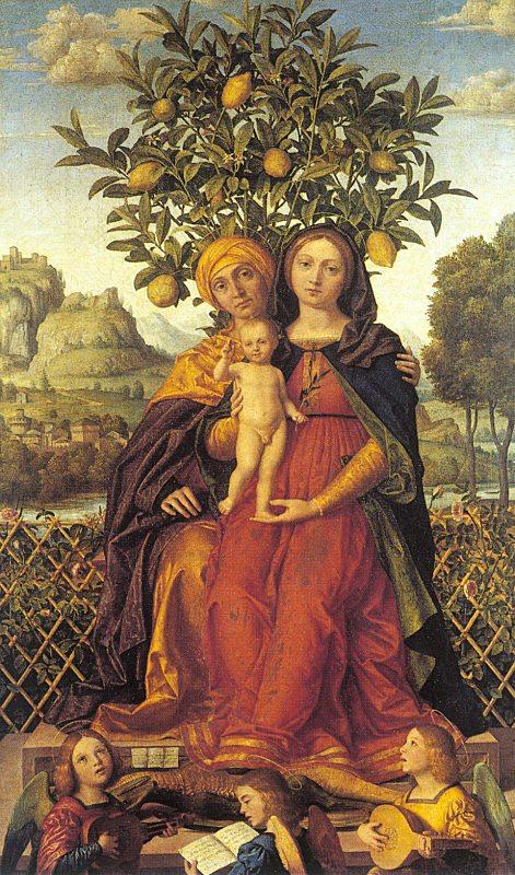 Джироламо дай Либпи. Мадонна со Святой Анной