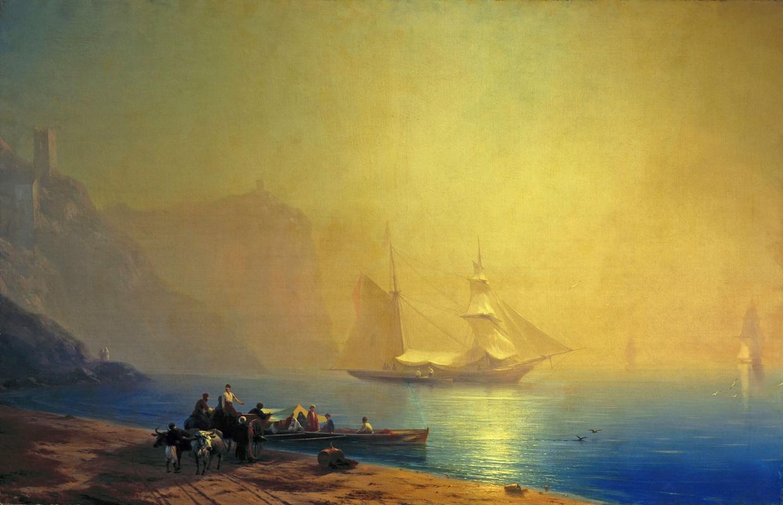 Ivan Aivazovsky. Morning on the beach. Sudak