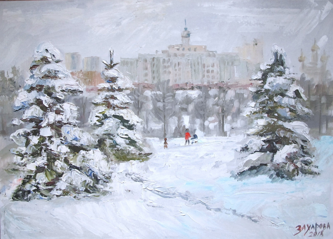 Dariya Zakharova. Winter in the Olympic Village