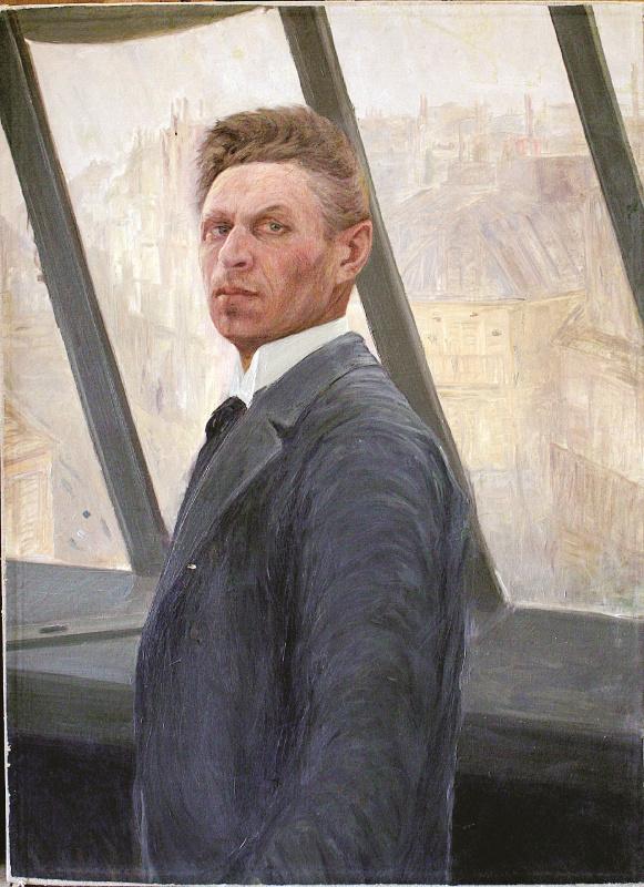 Konstantin Pavlovich Kuznetsov. Self-portrait in a workshop on rue de Clichy