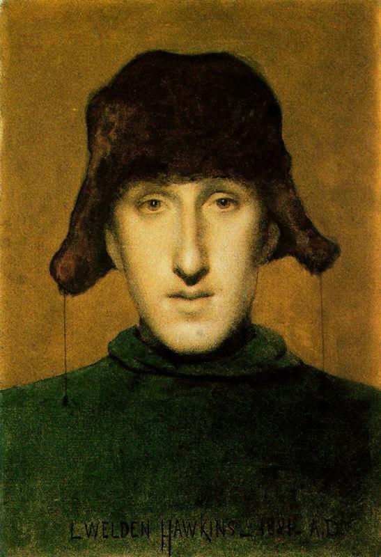 Louis Welden Hawkins. The man in the hat