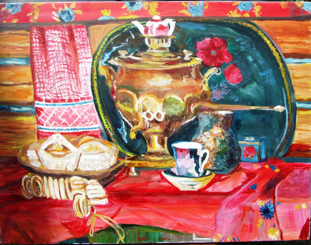 "Anatoly Murzaev. ""Tea and cakes"" at the V. F. Stozharov"