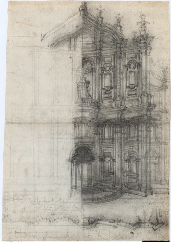 "Francesco Borromini. Rome, the Oratory of St. Philip Neri, facade, revised version for publication ""Opus Architectonicum"""